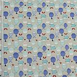 Декоративная ткань ariel  рыбки цветные 134314, фото 2