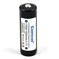 Аккумулятор Keeppower 17500 1200 mAh с защитой
