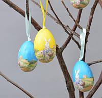 Пасхальный декор подвеска яйцо пасхальный кролик 6х4 см (PD012)