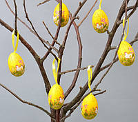 Пасхальный декор подвеска яйца с рисунками 6х4 см (PD092)