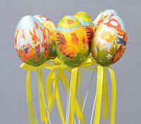 Пасхальный декор яйца с рисунками 20х4 см (PD103)