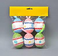 Пасхальный декор яйцо подвеска орнамент 7х5 см (PD025)