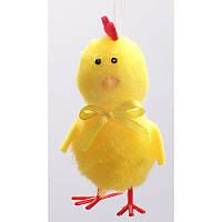Набор пасхальных украшений цыпленок с бантом (3шт)