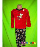 Пижама флисовая детская, с Мартышкой, Healthtex
