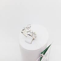 Кольцо серебряное со вставками