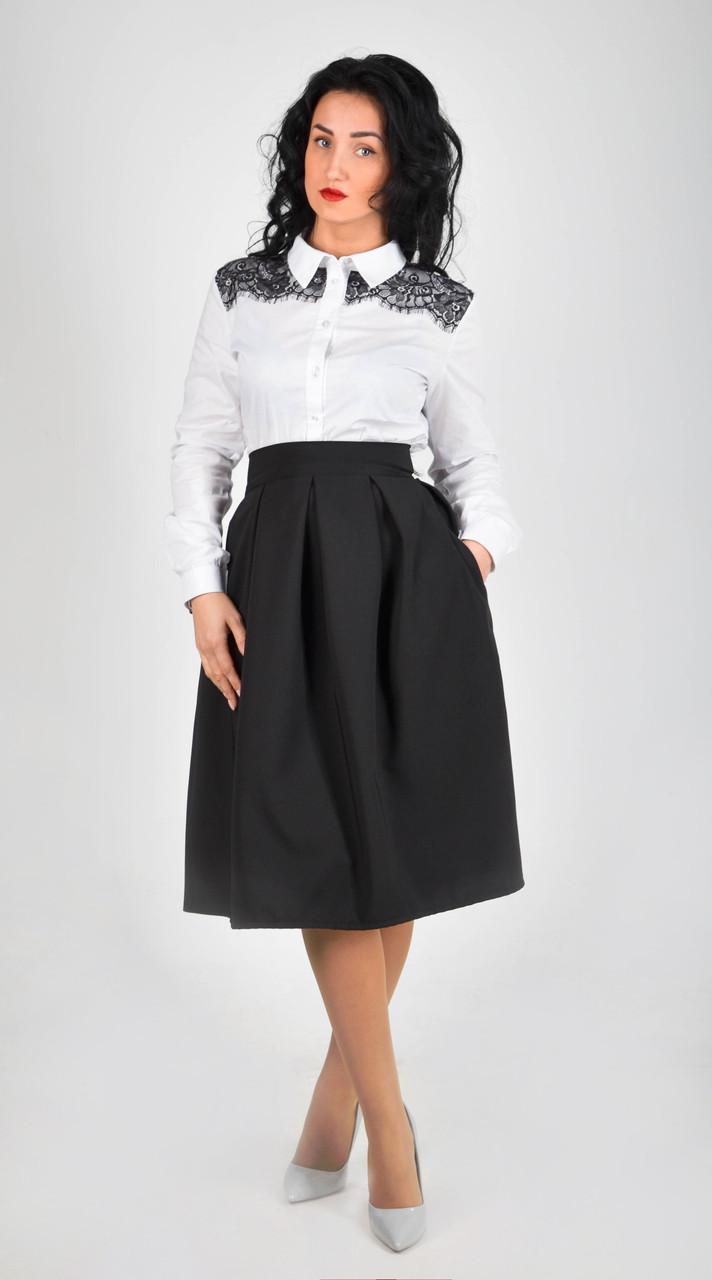 Женская стильная юбка-миди (46 размер)