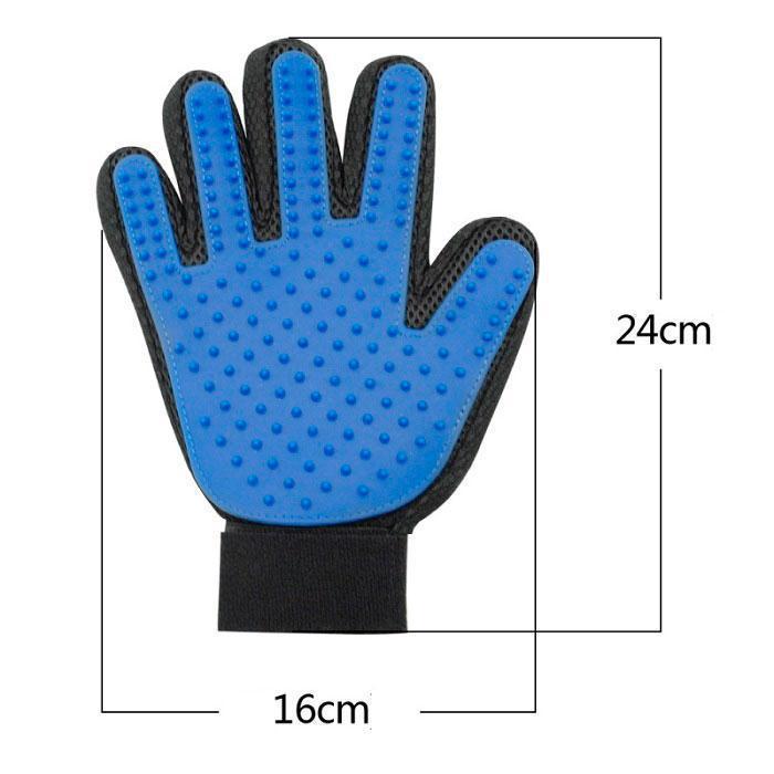 Перчатка  для вычёсывания  животных шерсти и массажа! Побалуй питомца!True Touch pet grooming glove Груминг 3