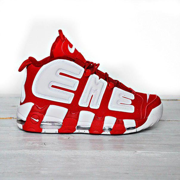 Мужские кроссовки Nike Air More Uptempo Supreme , Реплика