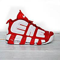 Мужские кроссовки Nike Air More Uptempo Supreme , Реплика, фото 1