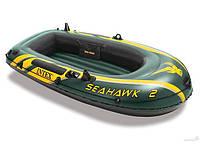 Intex 68347 (236х114х41 см.) Надувная лодка SeaHawk 2 + Весла и насос