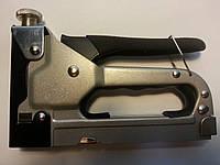 Степлер мебельный регулируемый 4-14 мм, металлический, прорезиненная ручка