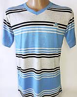 """Мужская футболка """"STEINER"""". Полоска. Большие размеры. № AD20."""