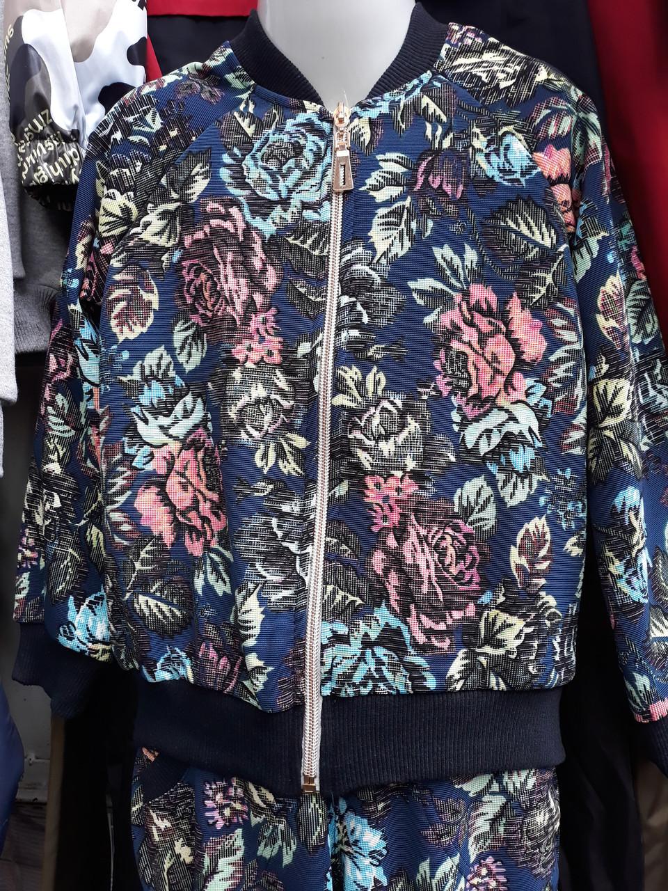 d896c127a250 Детский спортивный костюм для девочки с цветочным принтом -  Оптово-розничный магазин