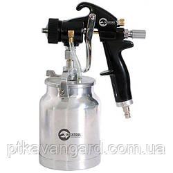 HVLP BLACK PROF Краскораспылитель 1,5 мм, нижний металл. бачок INTERTOOL PT-0214