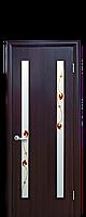 Дверь межкомнатная Пвх Новый стиль со стеклом сатин и рисунком р2 Вера