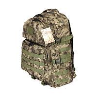 Тактический походный крепкий рюкзак 40 литров пиксель. Армия, туризм, охота, рыбалка, спорт.