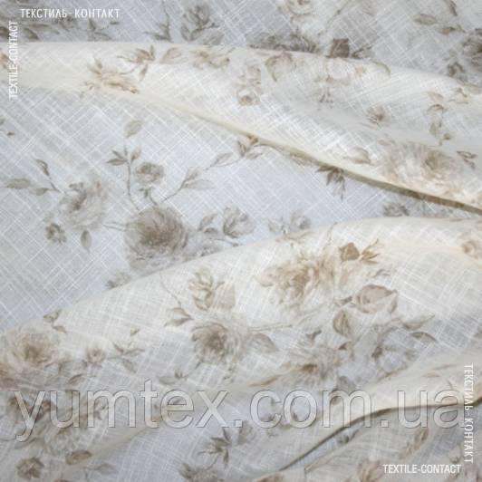 Тюль серпанок бруні трояндочки беж 109205
