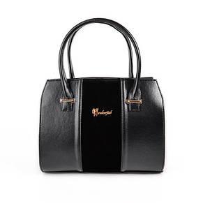 Женская комбинированная сумка М62-Z/замш, фото 2