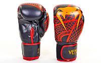 Перчатки для бокса и мма VENUM SNAKER VL-5795-R (р-р 4-12oz, красный-оранжевый)