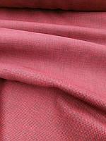Льняная умягченная ткань насыщенного бордового цвета, фото 1