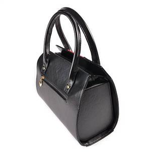 Женская каркасная сумка с красной вставкой М62-Z/68, фото 2