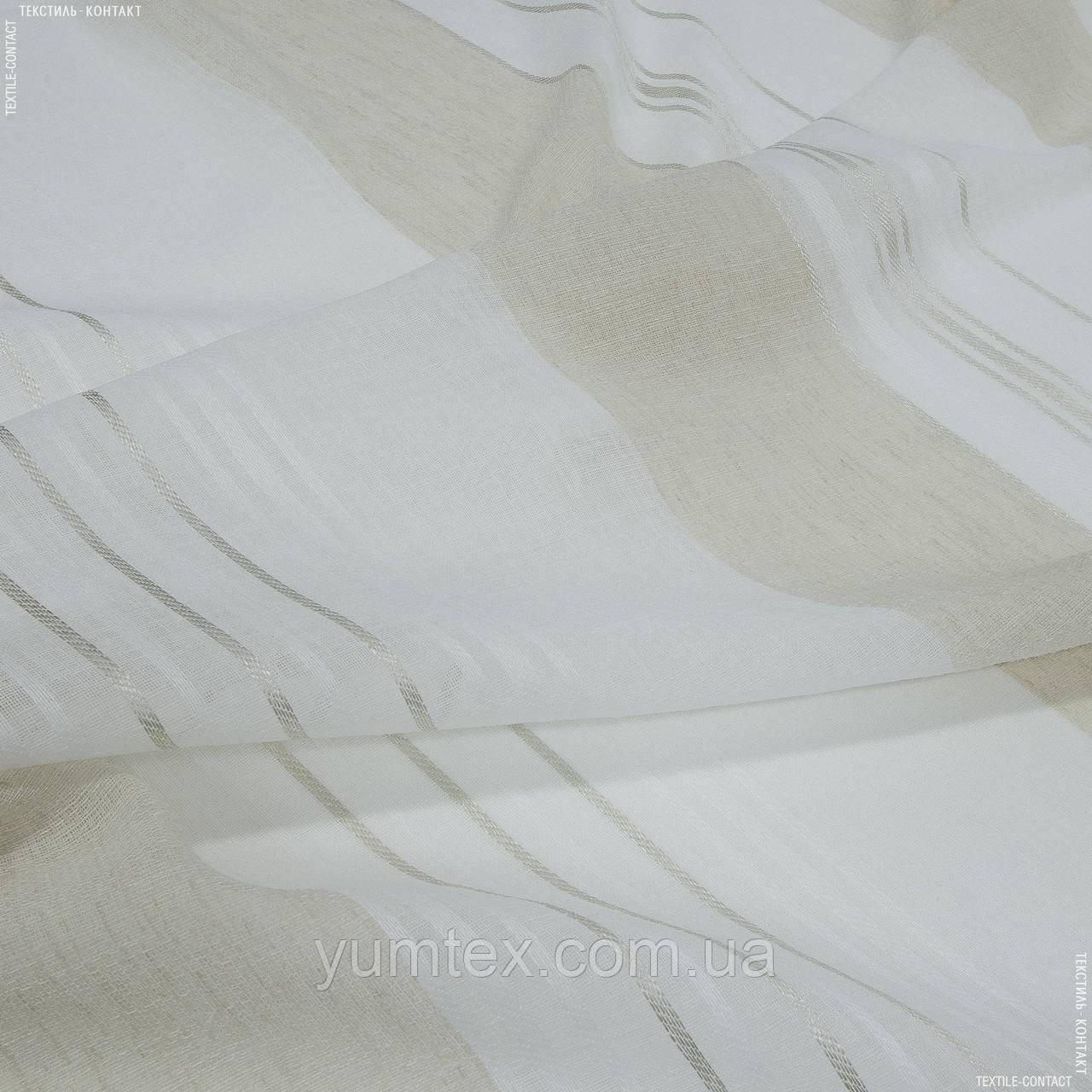Тюль з обважнювачем серпанок роял/ royal / купон 136450