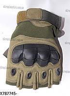 """Перчатки тактические с короткими пальцами (8-10, хаки) """"Pit"""" купить оптом со склада LM-959"""