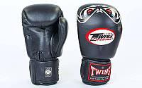Профессиональные боксерские перчатки TWINS FBGV-25-BK (р-р 10- 14oz, черный)
