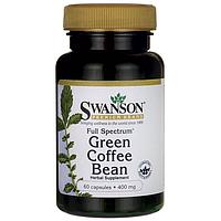 Зелёный кофе с имбирем капсулы для похудения green coffee США, Swanson, 60 таблеток