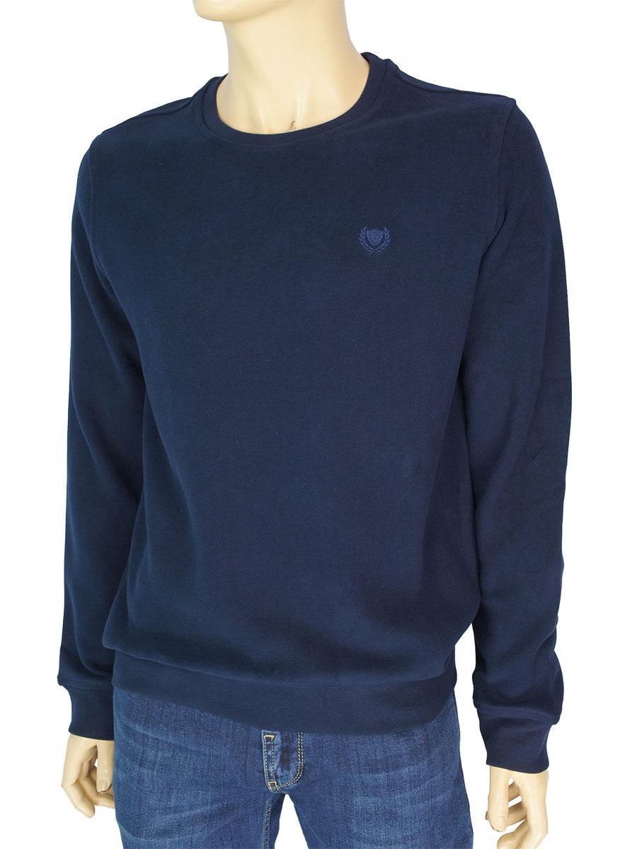 Турецкий мужской свитер Better Life 529 H темно-синего цвета