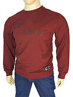 Бордовый мужской свитер Madmext Man 2199 в большом размере