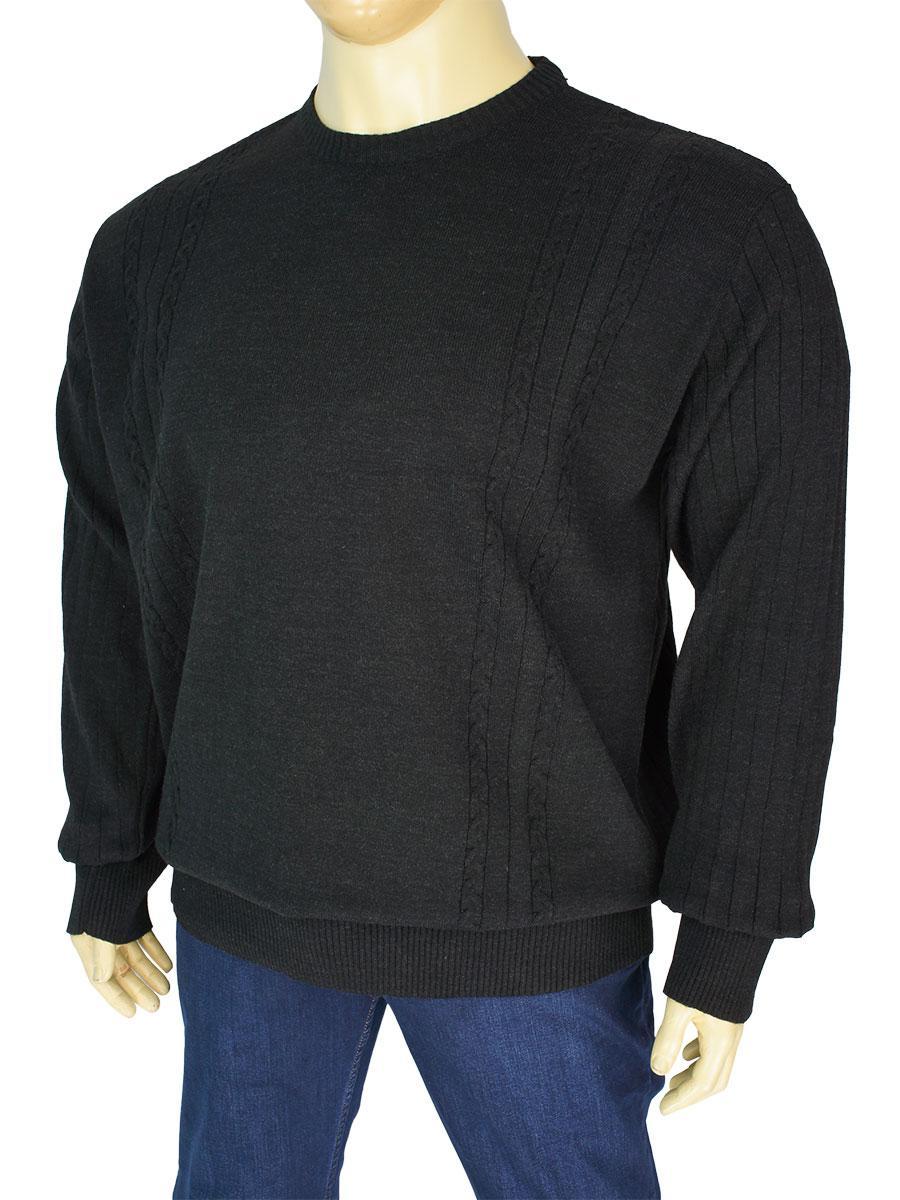 Чорний чоловічий светр Dekons 1385 великого розміру