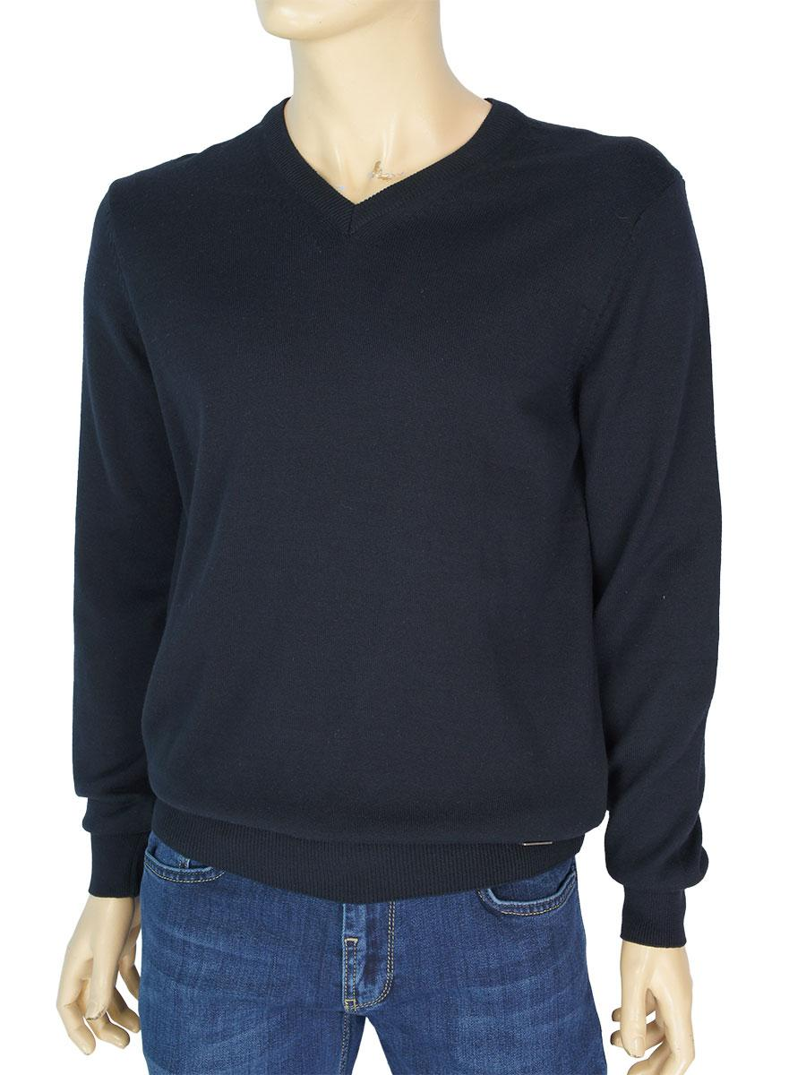 Однотонний чоловічий светр Better Life 1019 H темно-синього кольору