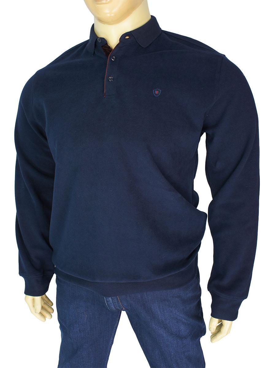 Темно-синий мужской свитер Better Life 931 В большого размера