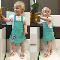 Детский комбинезон сарафанка на девочку с фиксиками