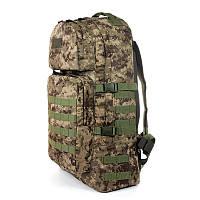 Тактический туристический крепкий рюкзак 60 литров пиксель. Армия,туризм, спорт, рыбалка, охота
