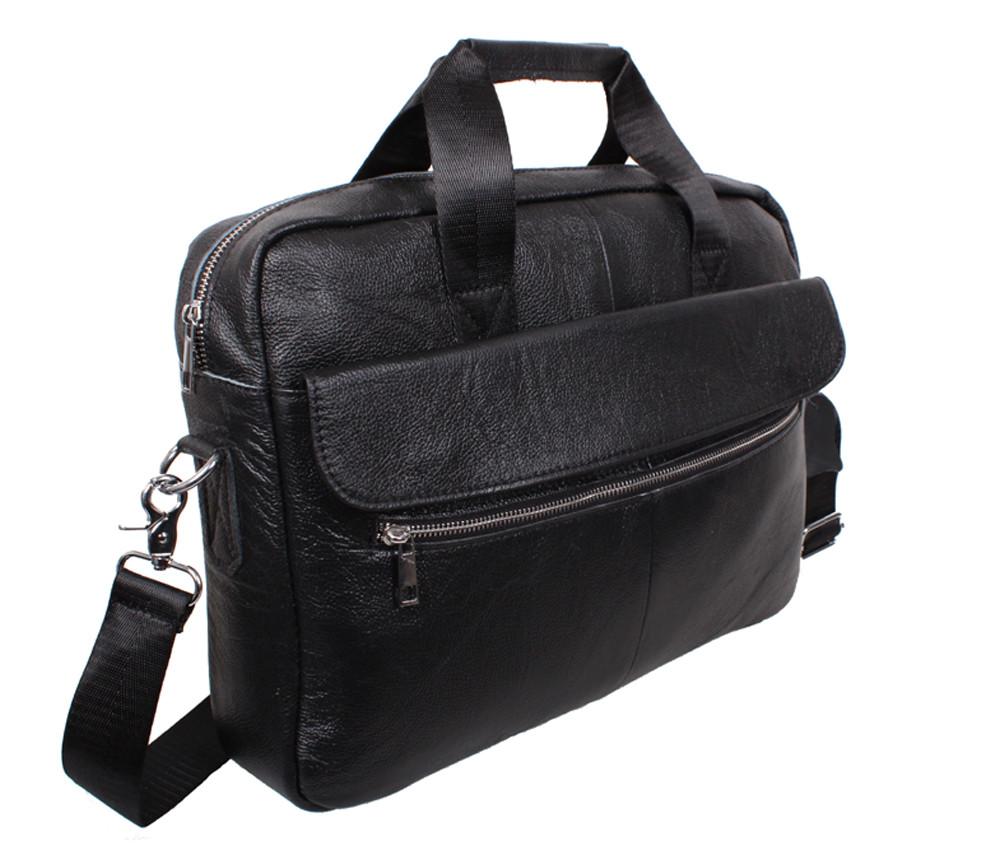 Чоловіча шкіряна сумка 1119black чорна