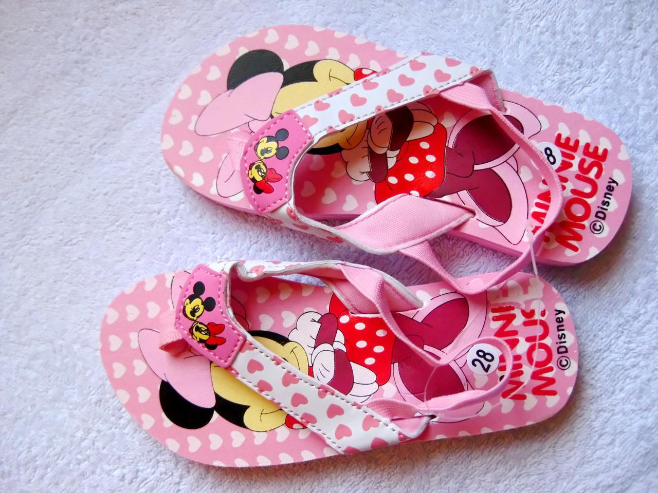 Летние босоножки шлепки Mini Maus для девочки