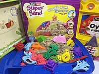 Кинетический песок Набор с инструментами и песочницей