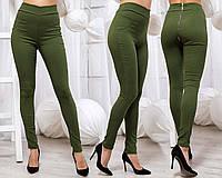 """Женские стильные брюки-леггенсы 7008 """"Джинс Стрейч Змейка"""" в расцветках"""