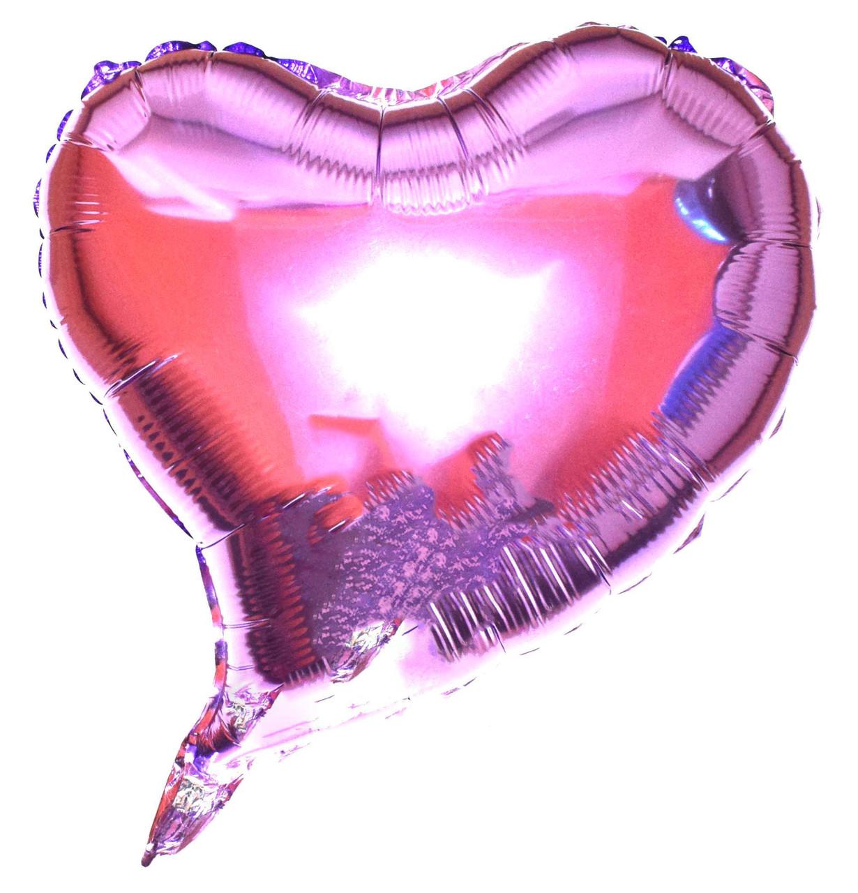 """Шар фольгированный """"Сердце фигурное"""" Цвет:Светло фиолетовой Размер:18""""(45см)."""