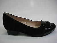 Кожаные женские замшевые коричневые туфли ТМ Ross, фото 1