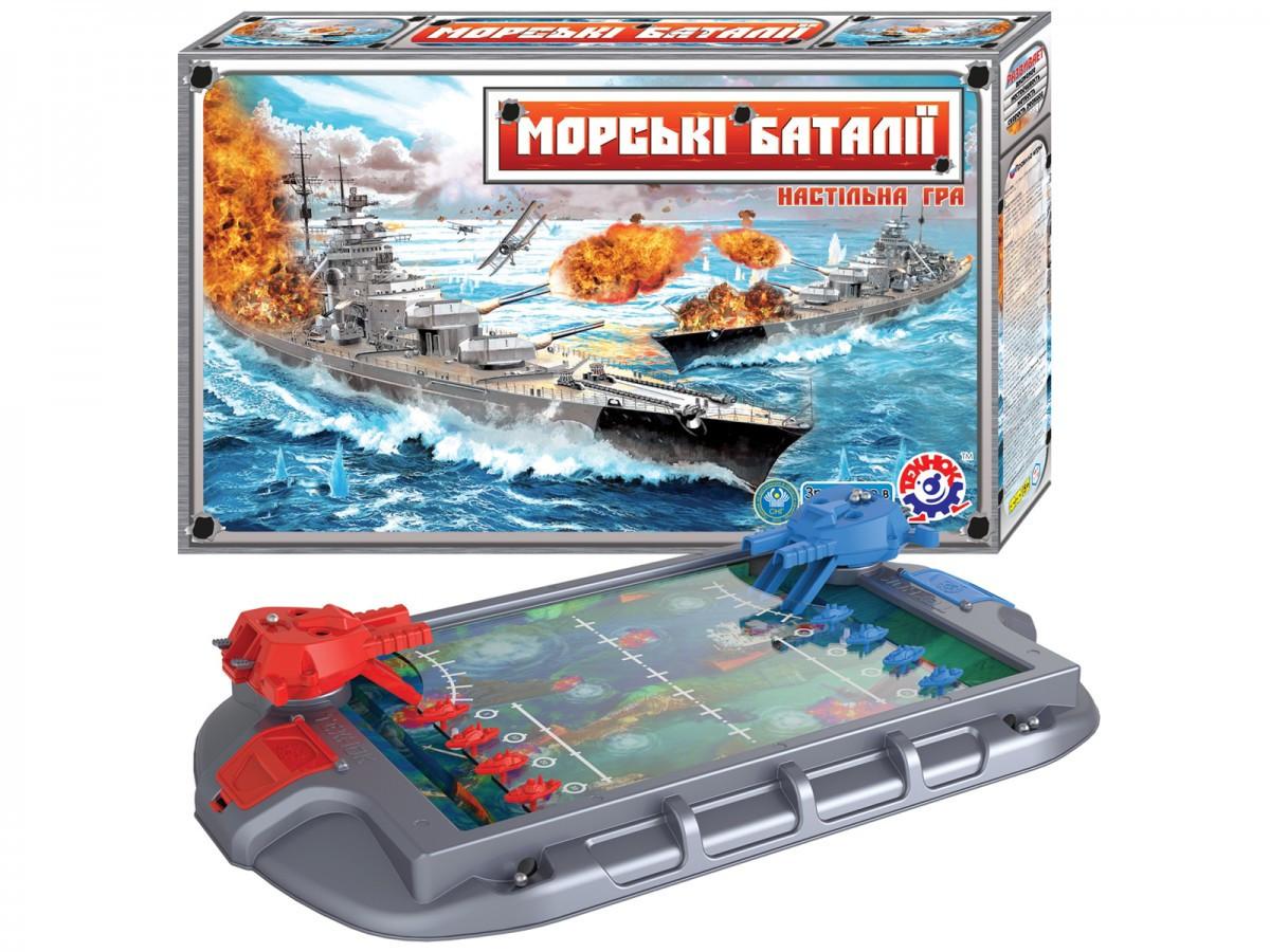 """Настільна гра """"Морські баталії ТехноК"""" артикул 1110"""