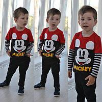 Детскийкостюм кофта и штаны с микки маусом
