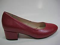 Кожаные туфли красного цвета ТМ Ross