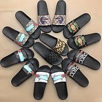 Брендовая мужская обувь - шлепанцы Gucci