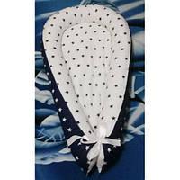 """Колыбелька-кокон (гнездышко) для новорожденных """"Синие звезды"""""""