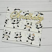 Пеленка хлопковая для новорожденных - 01