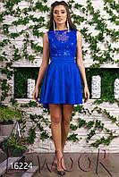 Выпускное платье из жаккарда с пайетками на сетке спереди