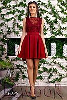 Благородное жаккардовое платье с пайетками и бантом
